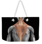 Trapezius Muscle With Skeleton Weekender Tote Bag