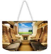 Travel In Comfortable Train. Weekender Tote Bag