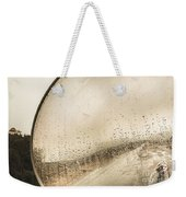 Travelling Photographer Taking Wet Weather Photo  Weekender Tote Bag