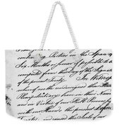 Treaty Of Alliance, 1778 Weekender Tote Bag