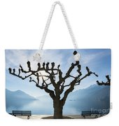 Tree And Bench Weekender Tote Bag