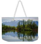 Trees And Lake Weekender Tote Bag