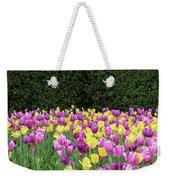 Tulip Flowers In A Garden, Chicago Weekender Tote Bag