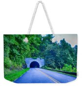 Tunnel Through Mountains On Blue Ridge Parkway In The Morning Weekender Tote Bag