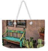 Turquoise Bench Weekender Tote Bag