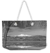 Twin Peaks Longs And Meeker Lake Reflection Bw Weekender Tote Bag