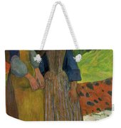 Two Breton Girls By The Sea Weekender Tote Bag