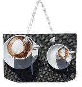 Two Cups Of Coffee Weekender Tote Bag