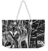 Two Gray Wolves Weekender Tote Bag