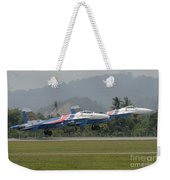 Two Sukhoi Su-27 Flanker Of The Russian Weekender Tote Bag