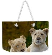 Two White Lions Weekender Tote Bag