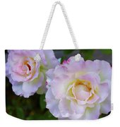 Two White Roses Weekender Tote Bag