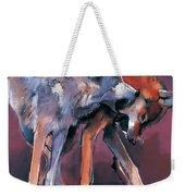 Two Wolves Weekender Tote Bag by Mark Adlington