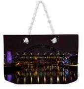 Tyne Bridge At Night Weekender Tote Bag