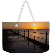 Tynemouth Pier Sunrise Weekender Tote Bag