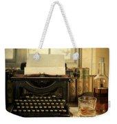 Typewriter And Whiskey Weekender Tote Bag