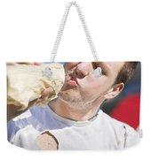 Unhealthy Lifestyle Weekender Tote Bag