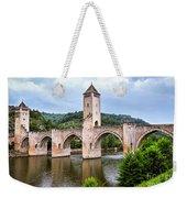 Valentre Bridge In Cahors France Weekender Tote Bag by Elena Elisseeva