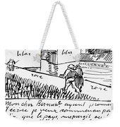 Van Gogh Letter, 1888 Weekender Tote Bag