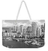 Vancouver Bc Downtown Skyline At False Creek Canada Weekender Tote Bag