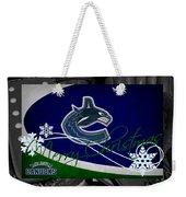Vancouver Canucks Christmas Weekender Tote Bag