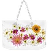 Variety Of Flowers Against White Weekender Tote Bag