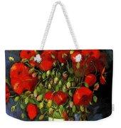 Vase With Red Poppies Weekender Tote Bag
