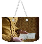 Victorian Woman Reading A Love Letter Weekender Tote Bag
