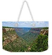 View From Sun Temple In Mesa Verde National Park-colorado  Weekender Tote Bag