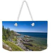 View Of Rock Harbor And Lake Superior Isle Royale National Park Weekender Tote Bag