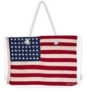 Vintage American Flag Weekender Tote Bag
