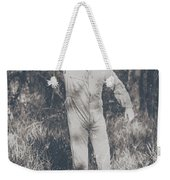 Vintage Black And White Horror Zombie Weekender Tote Bag