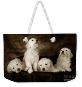 Vintage Festive Puppies Weekender Tote Bag