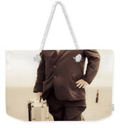 Vintage Traveling Business Man Weekender Tote Bag