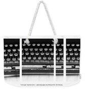 Vintage Typewriter Weekender Tote Bag