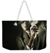 Vintage Undercover Spy On Dark Background Weekender Tote Bag