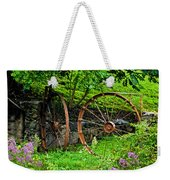 Vintage Wagon Wheel Gate Weekender Tote Bag