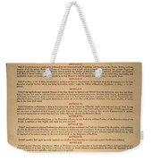 Virginia Constitution, 1776 Weekender Tote Bag