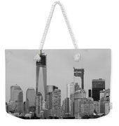 1 W T  C  And Lower Manhatten In Black And White Weekender Tote Bag