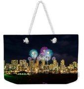 Waikiki Fireworks Celebration 11 Weekender Tote Bag