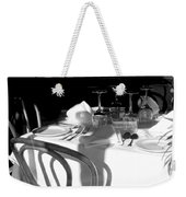 Waiting For Diners Bw Weekender Tote Bag