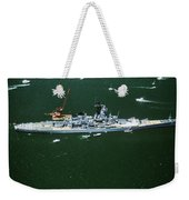 War Ship In New York Harbor, New York Weekender Tote Bag