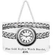 Watch Bracelet, 1891 Weekender Tote Bag