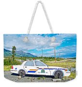 Watch Out For The Rcmp Near Destruction Bay In Yukon-canada Weekender Tote Bag