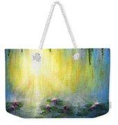 Water Lilies At Sunrise Weekender Tote Bag