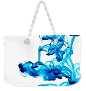 Water Trails - Two Blue Drops - Square Version Weekender Tote Bag
