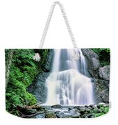 Waterfall In A Forest, Moss Glen Falls Weekender Tote Bag