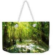 Waterfall In Rainforest Weekender Tote Bag