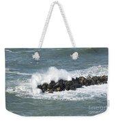 Wave On The Rocks Weekender Tote Bag