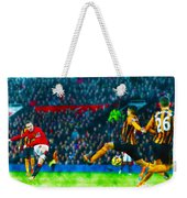 Wayne Rooney Of Manchester United Scores Their Second Goal Weekender Tote Bag